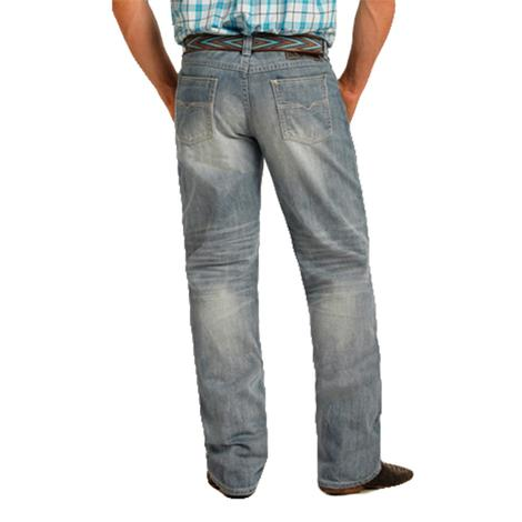 Tuf Cooper Mens Competition Fit Light Wash Western Jeans