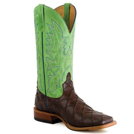 Horsepower Mens Filet Fo Fish Lime & Bass Square Toe Boots