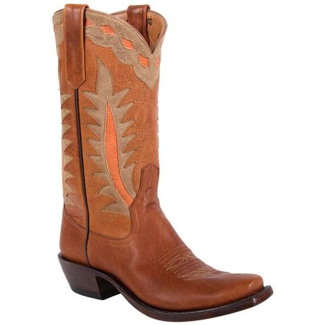 Rios Of Mercedes Womens Peach Goat Tag Western Boots