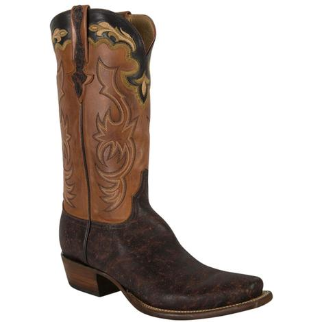 Lucchese Classics Mens Bark Brown Elephant Burn Ranch Boots