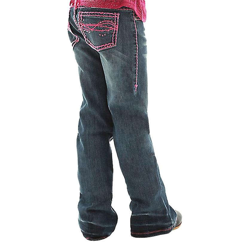 Cowgirl Tuff Girls Don ' T Fence Me In Pink Stitch Jeans