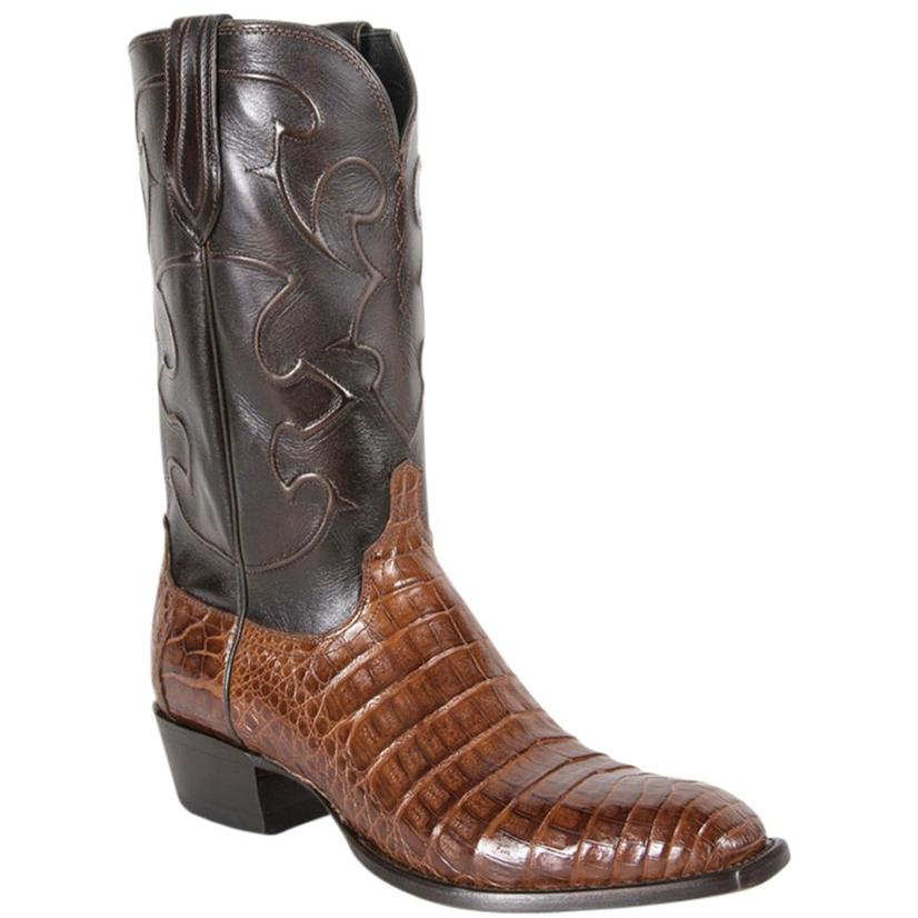 Lucchese Mens Caiman Belly Sienna Western Boots