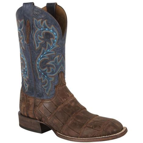 Lucchese Mens Malcolm Brandy Giant Alligator Boots