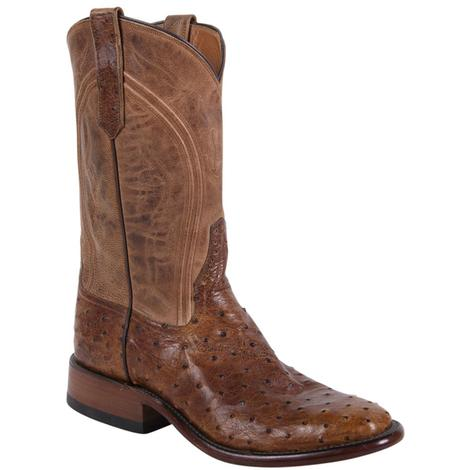 Rios of Mercedes Mens Full Quill Ostrich Cowboy Boots