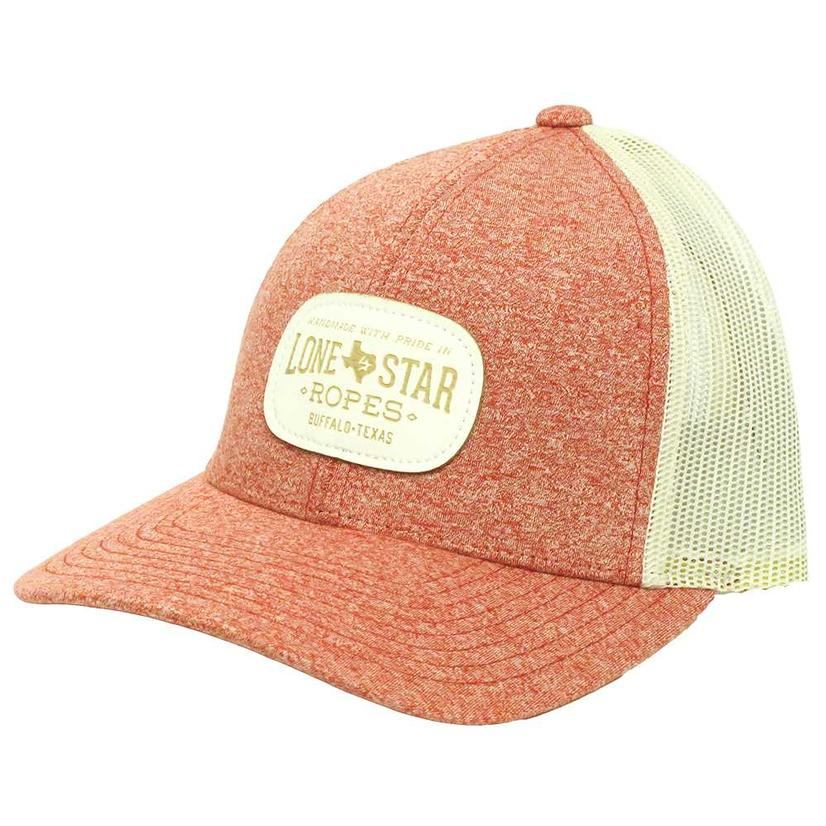 030b6429601 Lone Star Ropes Heathered Red w White Patch Cap