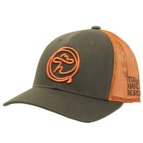 Top Hand Rope Green & Orange Cap