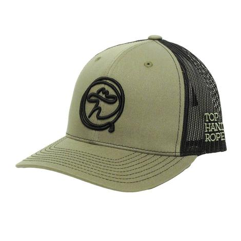 Top Hand Rope Black & Tan Cap