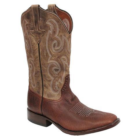 Rios of Mercedes Mens Bison Antique Brown Boots