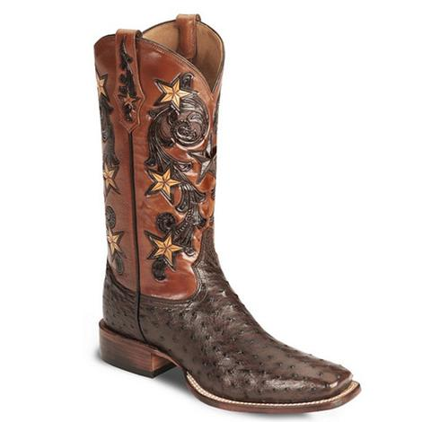 Tony Lama Mens Signature Full Quill Ostrich Cowboy Boot