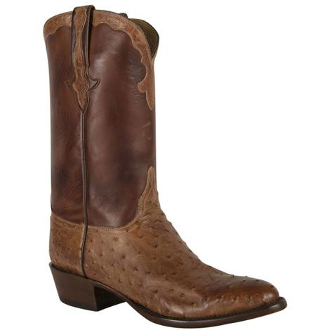 Lucchese Mens Barnwood Pin Burn Ranch Boots