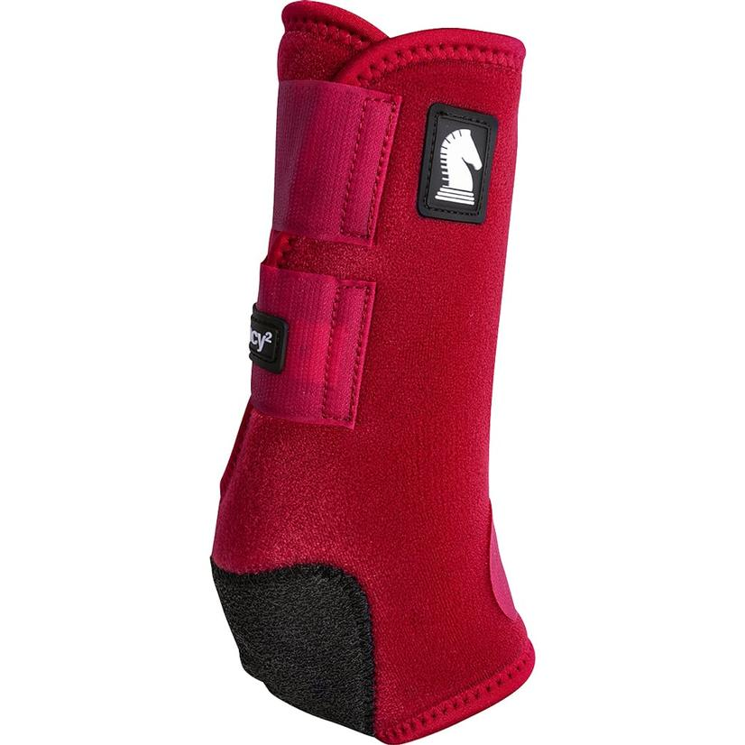 Classic Equine Legacy2 Horse Hind Protective Sport Boots CRIMSON