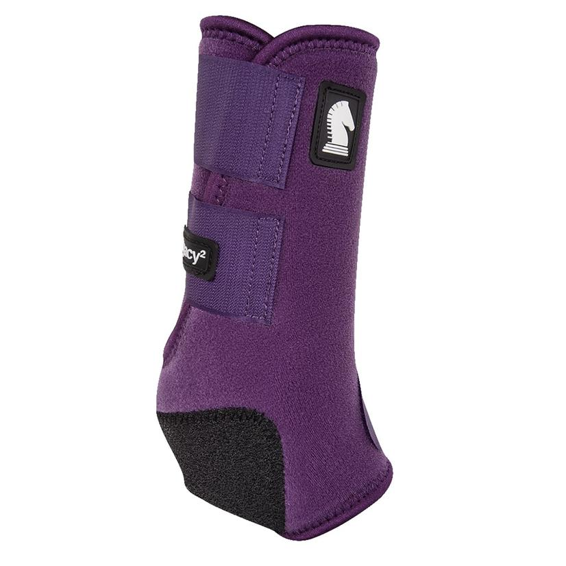 Classic Equine Legacy2 Horse Hind Protective Sport Boots EGGPLANT
