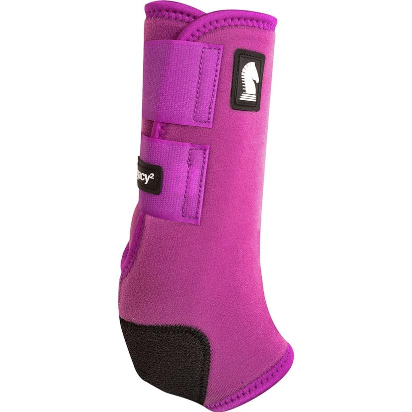 Classic Equine Legacy2 Horse Hind Protective Sport Boots PLUM