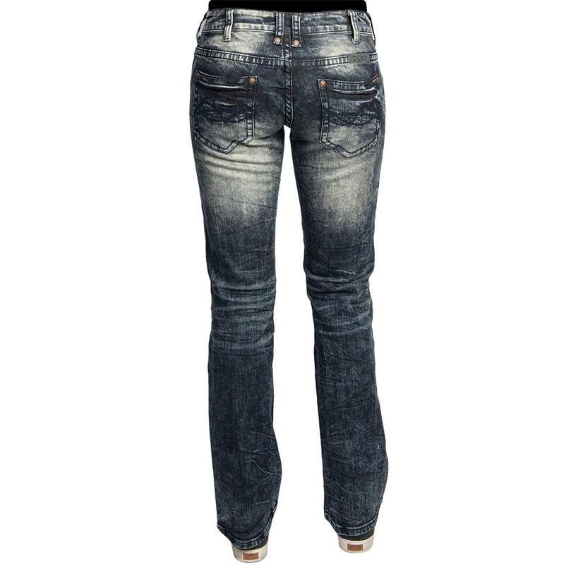 Cowgirl Tuff Womens Omg Dark Vintage Wash Jeans
