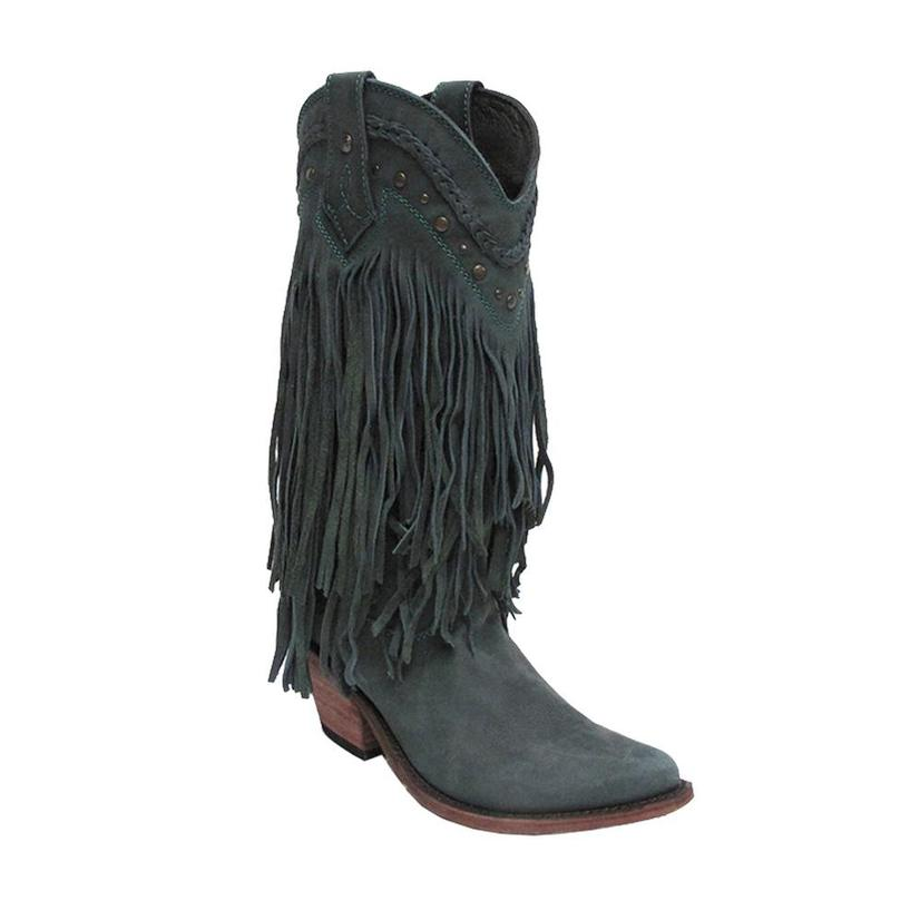 Liberty Black Womens Fringe For One Fringe For All Western Boots