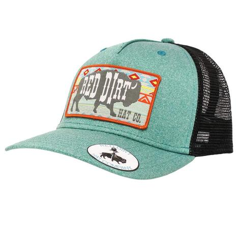 Red Dirt Hat Co Aztec Heather Green & Black Cap