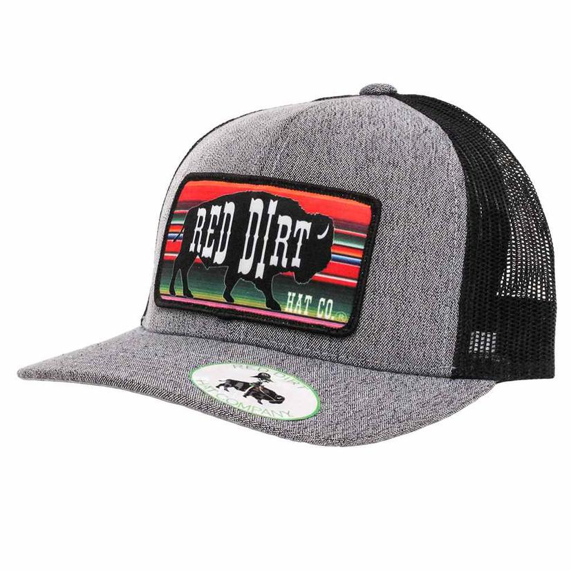 Red Dirt Hat Co Serape Patch Heather Grey Cap