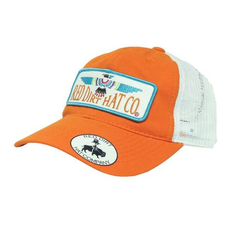 Red Dirt Hat Co Unstructured Thunderbird Orange & White Cap