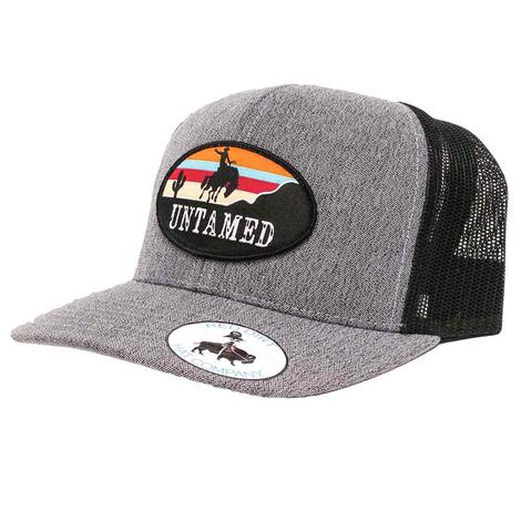Red Dirt Hat Co Untamed Heather Grey & Black Cap