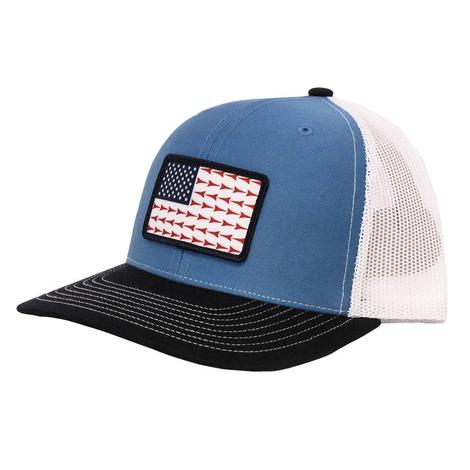 Fast Back US Flag Blue Mesh Back Cap
