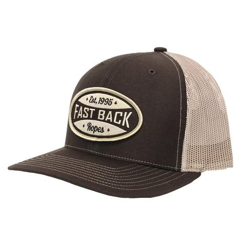 Fast Back Brown & Tan Round Patch Mesh Back Cap
