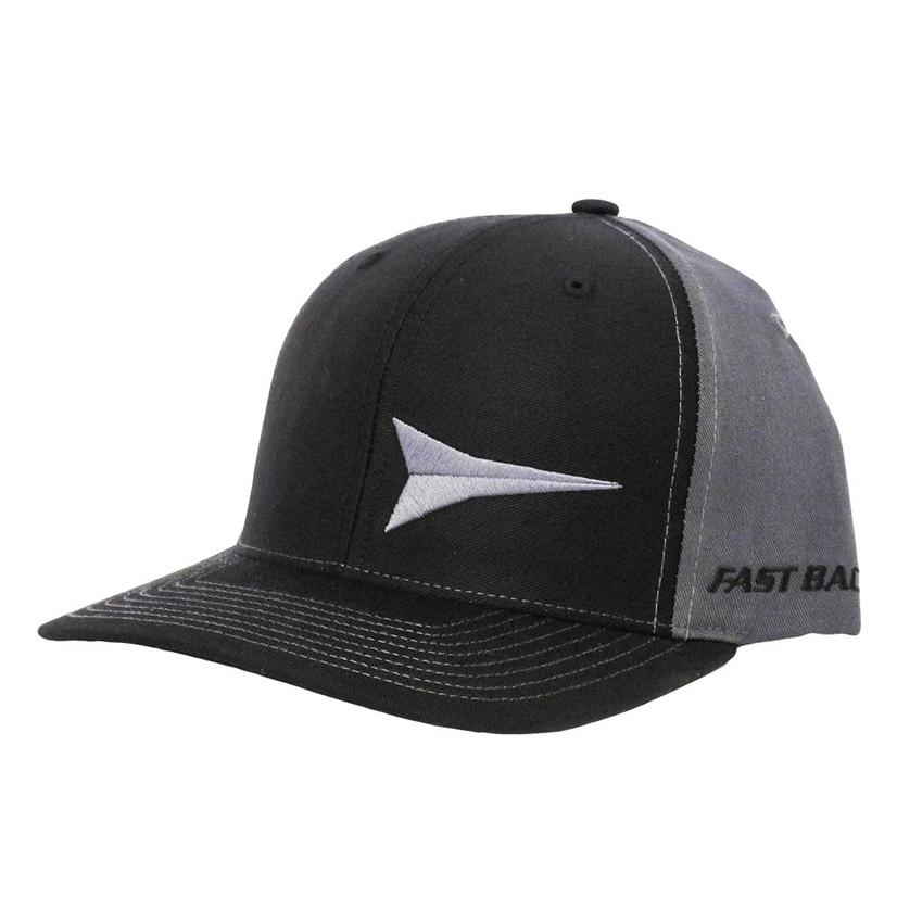 Fast Back Black & Grey Logo Flex Fit Cap