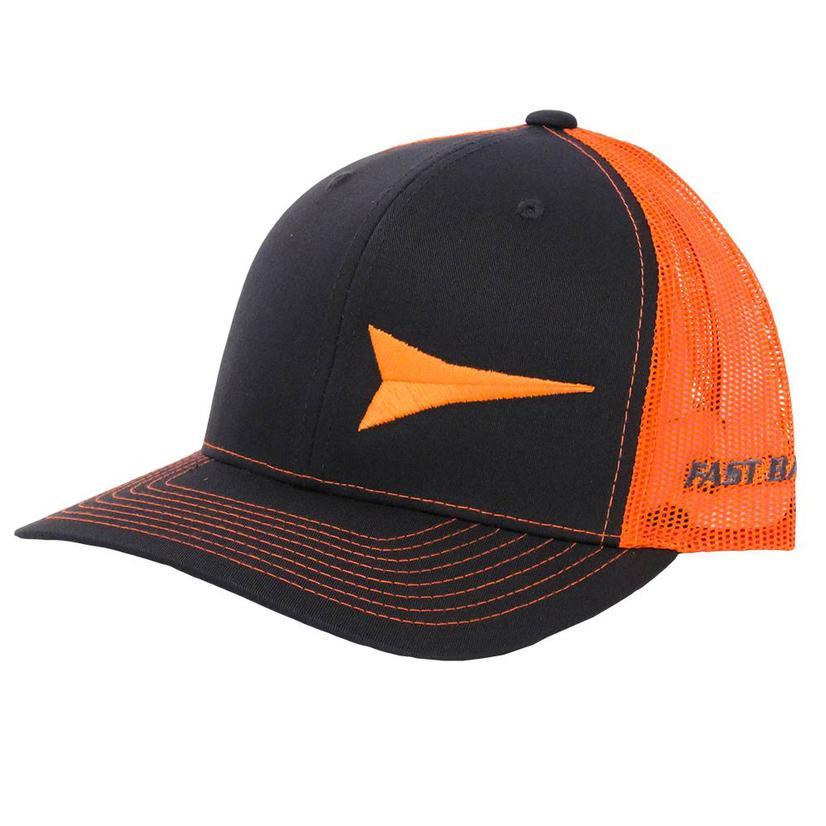 Fast Back Steel & Orange Logo Mesh Back Cap