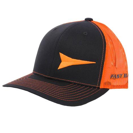 Fast Back Steel & Orange Logo Mesh Back Cap