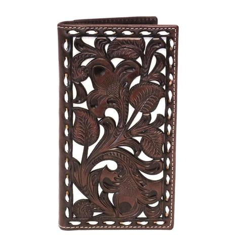 Nocona Dark Brown & White Bifold Wallet
