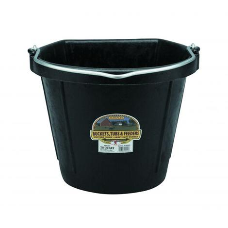 Miller MFG. Flat Back Rubber Bucket 20 Qt.