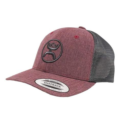 Hooey Cody Ohl Burgundy Grey Snapback Youth Cap