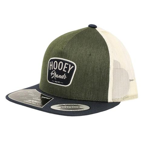 Hooey Forest Green and Cream Snapback Cap