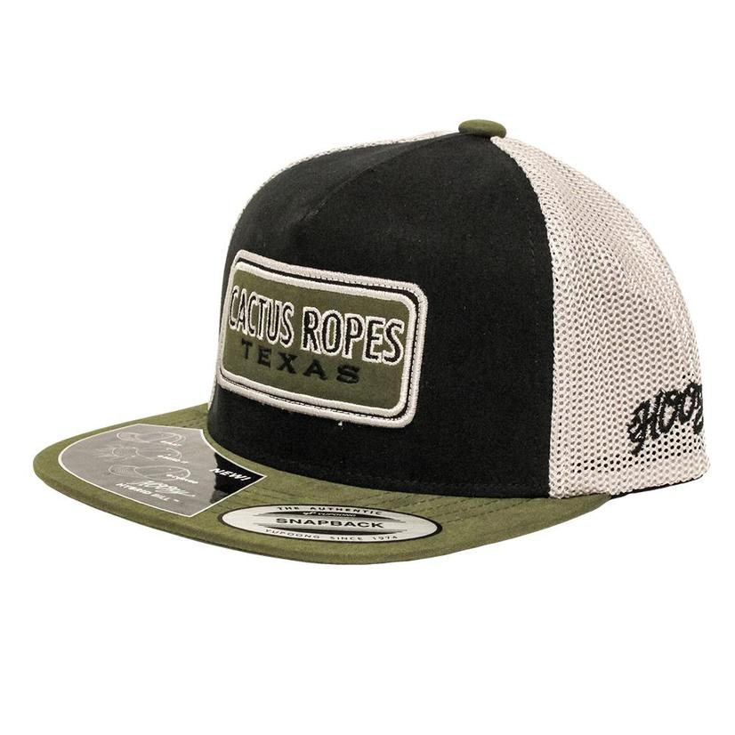 Cactus Ropes Black & Green Youth Mesh Back Cap