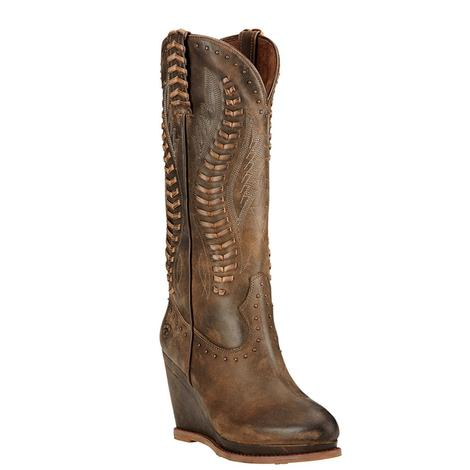 Ariat Womens Nashville Dark Chocolate Western Boots