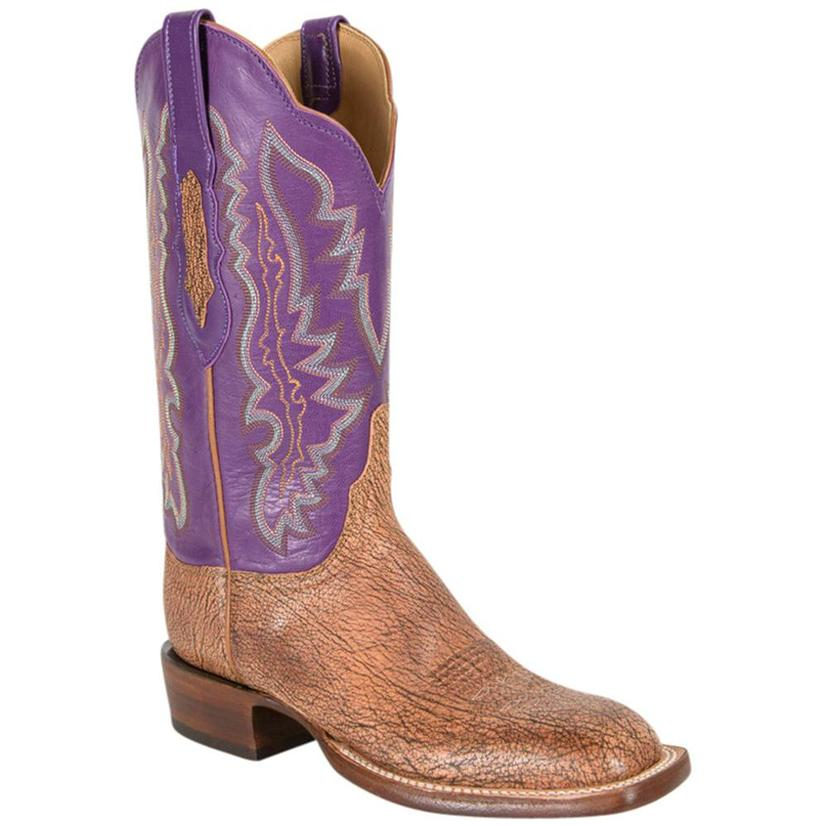 Lucchese Womens Tan Burnished Old English Goat Boots