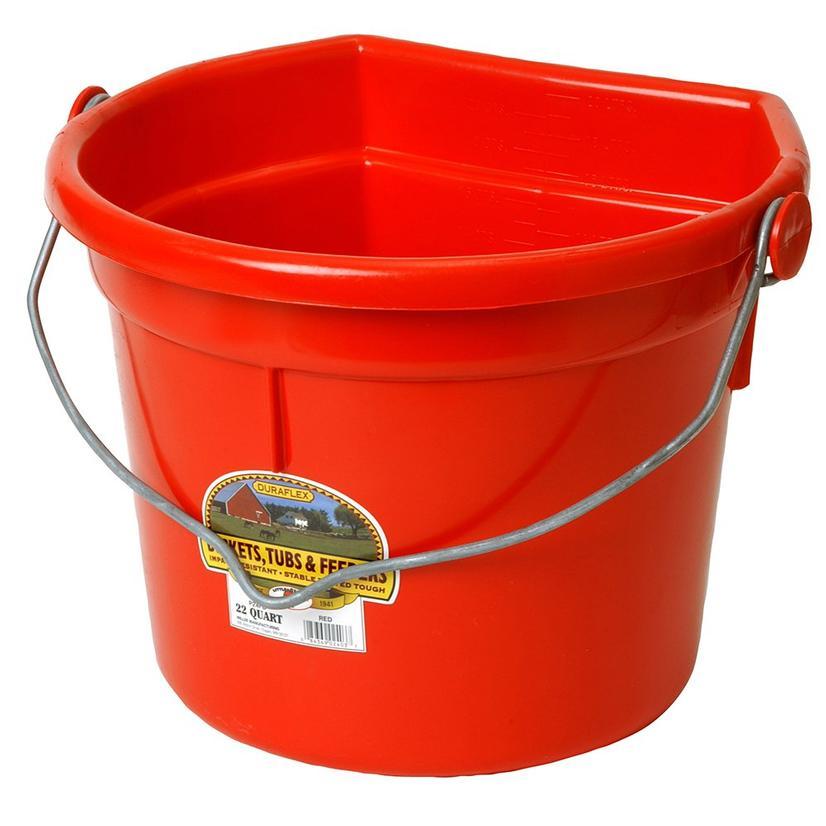 Miller Mfg.Flat Back Plastic Bucket 22 Quart