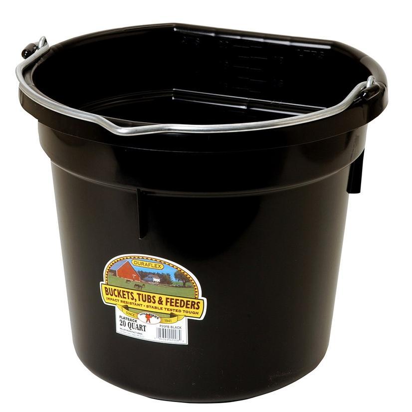 Miller Mfg.Flat Back Plastic Bucket 20 Quart