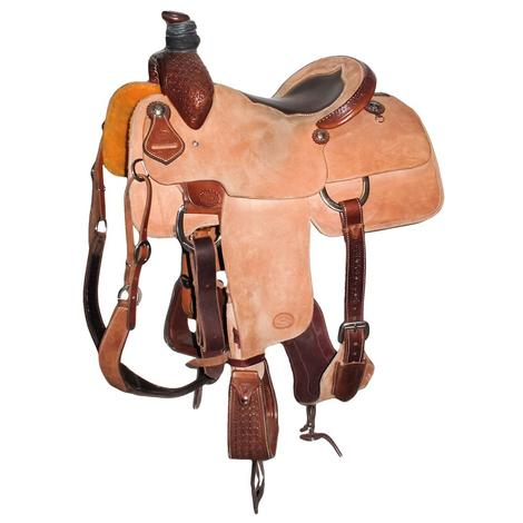 STT Team Roper 14in Roughout Used Saddle