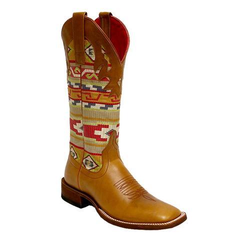 Macie Bean Womens Artesia Serape Whiskey Bent Western Boots