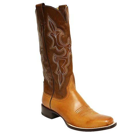 Stetson Womens Narrow Tan Western Boots