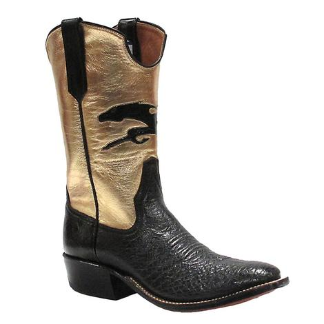 Rios Of Mercedes Womens Black & Metallic Western Boots