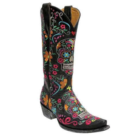 Old Gringo Womens Klak Sugar Skull Boots