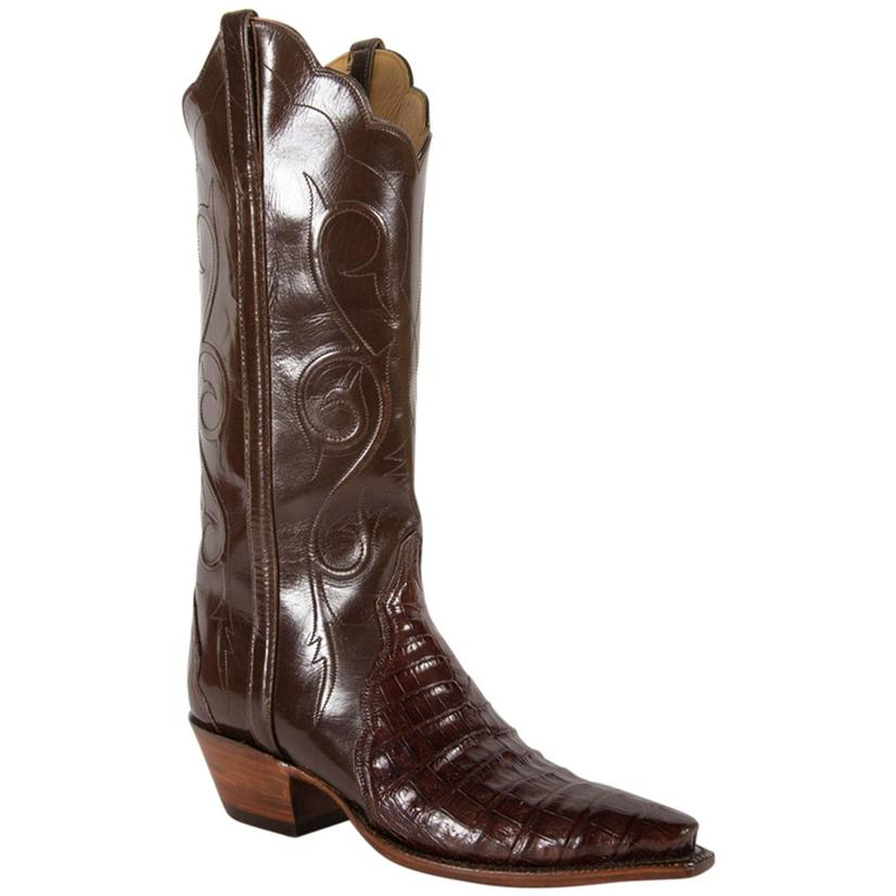 Lucchese Womens Sienna Ultra Belly Pony Brown Buff Boots