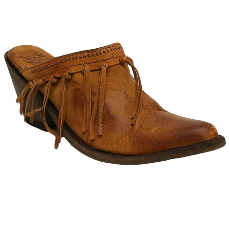 Old Gringo Womens Mabel Tan Fringe Clog Shoes