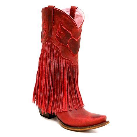 Junk Gypsy Womens Dreamer Red Grain Western Boots