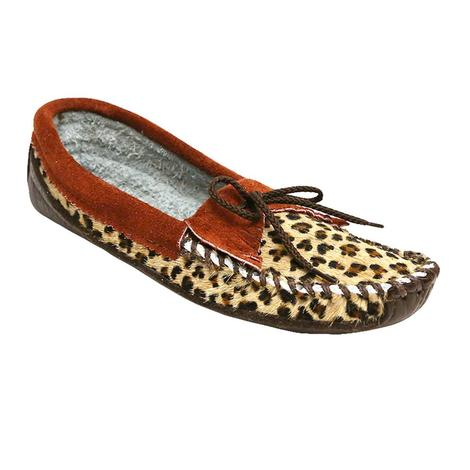 Itasca Womens Cota Leopard Moccasins
