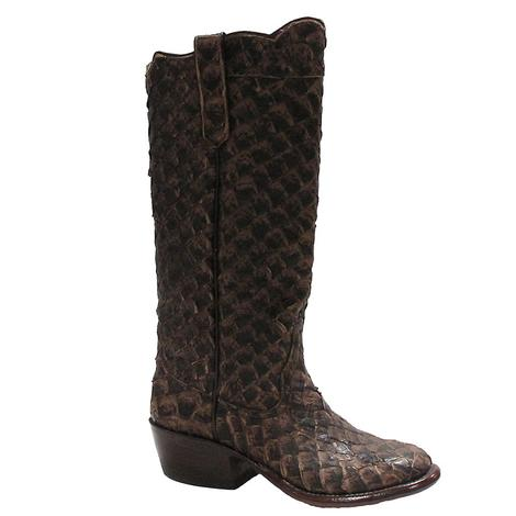 Rios Of Mercedes Womens Pirarucu Brown Western Boots
