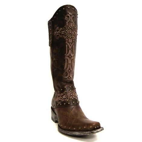 Old Gringo Womens Distressed Brown Krusts Over-the-Calf Boots