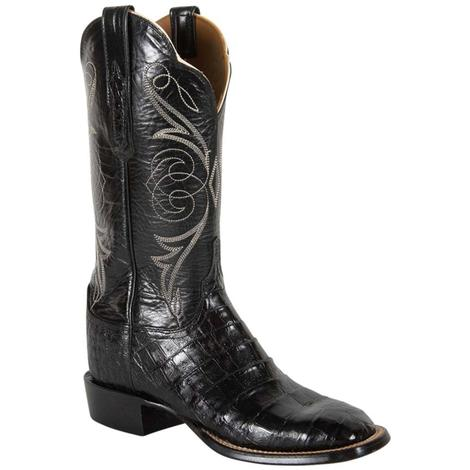 Lucchese Womens Black Exotic Caiman Western Boots