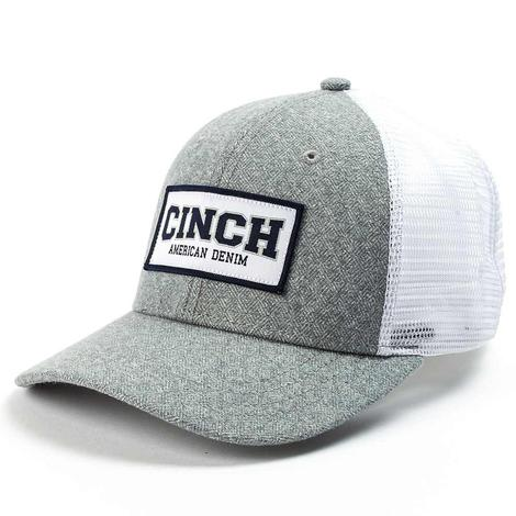 Cinch Grey and White Mesh Back Patch Cap